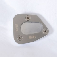R&G Racing Kickstand Shoe Silver for Yamaha FJR1300 06-15/Yamaha FJR1300A 14-Up