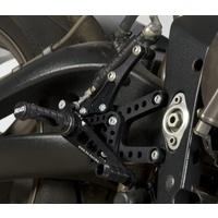R&G Racing Adjustable Rearsets Black for Triumph Daytona 675 06-12
