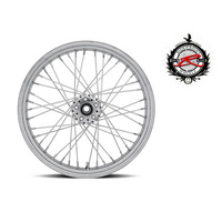 "Ride Wright RID-03224-00SC-NG Traditional 40 Spoke Wheel NG 21"" x 2.15"" Chrome Rim w/Stainless Steel Spokes"