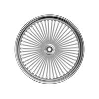 "Ride Wright RID-03225-00SC Fat Daddys 50 Spoke Wheel 21"" x 2.15"" Chrome Rim w/Stainless Steel Spokes"