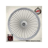 "Ride Wright RID-03235-00SC-NG Fat Daddys 50 Spoke Wheel NG 21"" x 3.0"" Chrome Rim w/Stainless Steel Spokes"