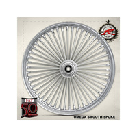 "Ride Wright RID-03835-00SC Fat Daddys 50 Spoke Wheel 18"" x 3.5"" Chrome Rim w/Stainless Steel Spokes"