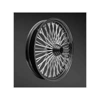 "Ride Wright RID-03855-00SC-BLK Fat Daddys 50 Spoke Wheel 18"" x 5.5"" Black Rim w/Stainless Steel Spokes"