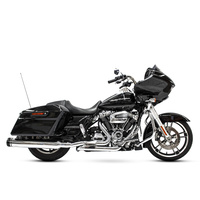 Rinehart Racing RIN-100-0406 MotoPro 45 Slimline Dual Exhaust System Chrome w/Black MP45 End Caps for Touring 17-Up