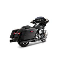 Rinehart Racing RIN-100-0409 MotoPro 45 Slimline Dual Exhaust System Black w/Black MP45 End Caps for Touring 09-16