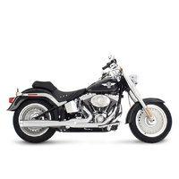 Rinehart Racing  RIN-200-0200C Softail 2:1 Exhaust System Chrome w/Chrome End Cap Softail'86up