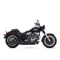 Rinehart Racing  RIN-200-0201 Softail 2:1 Exhaust System Black w/Black End Cap Softail'86up