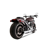 Rinehart Racing RIN-200-0204 2-1 Exhaust System Chrome w/Black End Cap for Heritage Classic/Sport Glide/Fat Boy/Breakout 18-Up