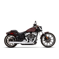 Rinehart Racing RIN-200-0204C 2-1 Exhaust System Chrome w/Chrome End Cap for Heritage Classic/Sport Glide/Fat Boy/Breakout 18-Up