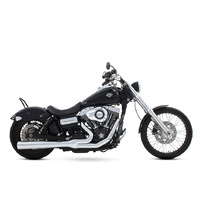 Rinehart Racing  RIN-200-0300C Dyna 2:1 Exhaust System Chrome w/Chrome End Cap FXD'06up