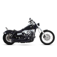 Rinehart Racing RIN-300-0202C Flush 2:2 Exhaust System Black w/Chrome End Caps Dyna 06-Later