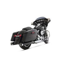 """Rinehart Racing RIN-500-0107C Slip-On 4"""" Mufflers Black w/Chrome End Caps"""