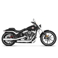 "Rinehart Racing RIN-500-0200 Slip-On 3"" Mufflers Chrome w/Black End Caps FLSTC FXST'07up & FXCW'08-11 FXSB'13up"