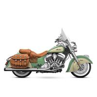 "Rinehart Racing RIN-500-0500 Slip-On 4"" Mufflers Chrome w/Black End Caps Indian Dark Horse Classic & Vintage"