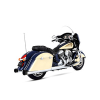 "Rinehart Racing RIN-500-0502 Slip-On 4"" Mufflers Chrome w/Black End Caps Indian Chieftain & Roadmaster"