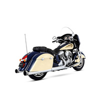 "Rinehart Racing RIN-500-0502C Slip-On 4"" Mufflers Chrome w/Chrome End Caps Indian Chieftain & Roadmnaster"