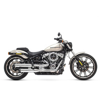 "Rinehart Racing RIN-500-1200 Slip-On 3.5"" Mufflers w/Chr/Black Caps S/Tail'18up FXBB, FLSL, FXLR, FXBR & FLFB"