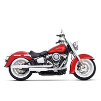 """Rinehart Racing RIN-500-1210C 3-1/2"""" Slip-On Mufflers Chrome w/Chrome End Caps for Softail Deluxe/Heritage Softail Classic 18-Up"""