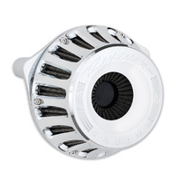 Rinehart Racing RIN-910-0102C Moto Series Inverted Stage 1 Air Cleaner Chrome for Big Twin 93up