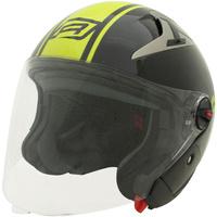 Rjays Navona II Open Face Helmet Gloss Black/Hi Viz