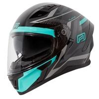 Rjays Apex III Helmet Ignite Black/Aqua