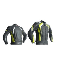 RST R-18 CE Leather Jacket Fluro Yellow