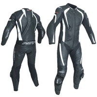 RST R-18 1 Piece Leather Suit Black/White