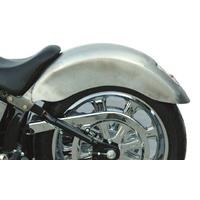 "Russ Wernimont Designs RWD-1401-0137 9"" Wide Pro Street Strutless Rear Fender w/Taillight for Softail 86-99 w/180 or 200 Rear Tyre"