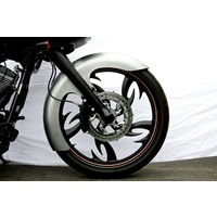 "Russ Wernimont Designs RWD-50079 Front Fender O.F.C. 6"" Wide for 23"" FLH 84-up"