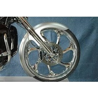"""Russ Wernimont Designs RWD-50110 6"""" Wide Straight Cut LS-2 Front Fender for Touring 84-Up w/26"""" Front Wheel"""