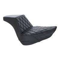 Saddlemen SAD-818-27-172 Step-Up Front LS Dual Seat w/Black Double Diamond Lattice Stitch for Fat Boy 18-Up