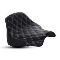 Saddlemen SAD-818-28-002LS-WH Renegade LS Solo Seat w/White Double Diamond Lattice Stitch for Fat Bob 18-Up
