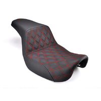 Saddlemen SAD-818-30-172RD Step-Up Lattice Stitch Dual Seat w/Red Double Diamond Lattice Stitch for FLDE/FLHC/FLSL/FXBB'18up