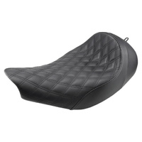 Saddlemen SAD-I14-07-002LS Renegade LS Solo Seat w/Black Double Diamond Lattice Stitch for Indian Touring 14-Up