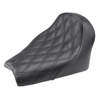Saddlemen SAD-I18-33-002LS Renegade LS Solo Seat w/Black Double Diamond Lattice Stitch for Indian Scout Bobber 18-Up