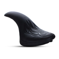 Saddlemen SAD-Y00-01-0512 Profiler Tattoo Dual Seat w/Black Stitched Flames for Yamaha V-Star XVS650A Classic 00-Up