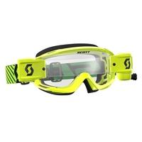 Scott Split OTG WFS Goggle Green/Yellow w/Clear Works Lens