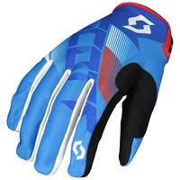 Scott 350 Dirt Gloves Blue/White