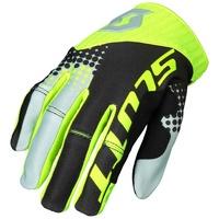 Scott 450 Angled Gloves Black/Yellow