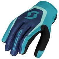 Scott 350 Dirt Kids Gloves Blue/Teal