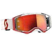 Scott Prospect Goggles Orange Chrome Lens Red/White