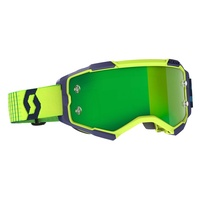 Scott Fury Goggles Chrome Green Lens Blue/Yellow