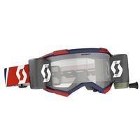 Scott Fury WFS Goggles Clear Lens Red/Blue