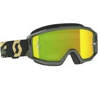 Scott Primal Goggles Yellow Chrome Works Lens Camo Khaki