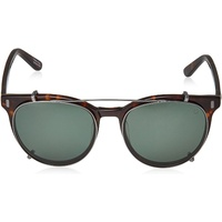Spy Optic Alcatraz Sunglasses Dark Tort w/Happy Gray Green Polar Clip Lens
