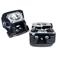S&S Cycle SS106-3233 Super Stock 79cc Cylinder Head Kit Twin Cam 06-UpBlack (Pair)