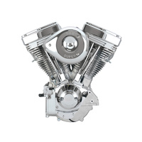 S&S Cycle SS106-5703 V111 Complete Assembled Engine Natural w/Super E Super Stock Ignition