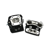 "S&S Cycle SS106-6064 Performance Cylinder Heads for Evolution Big Twin'86-99 Black Wrinkle 585"" Lift 76cc Heads"