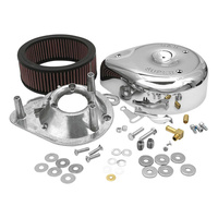 S&S Cycle SS17-0399 Teardrop Air Cleaner Kit Chrome for E/G Series Carburettor Big Twin 84-91 XL 86-90