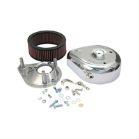 S&S Cycle SS17-0400 Teardrop Air Cleaner Kit Chrome for E/G Series Carburettor Big Twin 66-84 XL 66-85